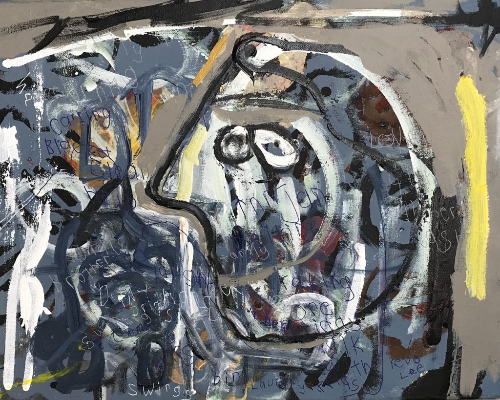 """Kevin Lee """"Picasso Face"""" Acrylic on Canvas, 15x20"""" $125"""
